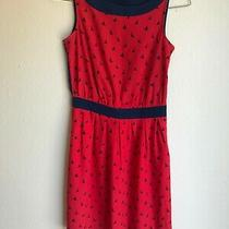 Women's Tommy Hilfiger Red and Blue Sleeveless Sailboat Dress Side Zipper Size 0 Photo