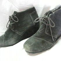 Womens Toms Gray Suede Desert Wedge Ankle Bootie Boot Size 9 Photo