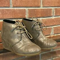 Women's Toms Wedge  Booties Size 6 / Excellent Used Condition Photo