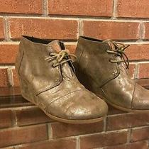 Women's Toms Wedge  Booties Size 8 / Excellent Used Condition Photo