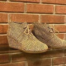 Women's Toms Wedge Leopard Bootie Size 6 / Excellent Condition Photo