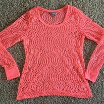 Women's Top Vanity Express Yourself W/ Vibrant Colors Sz L Pink Coral Netting Photo