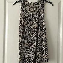 Womens Top/ Vest Pink & Black Pattern Loose Fit h&m Concious Size M Photo