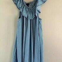 Women's Torrid Plus Size 3x Blue Chambray Off the Shoulder Sundress Photo