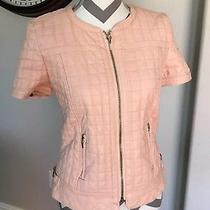Womens Trafaluc Collection Zara Blush Pink Short Sleeve Jacket Blazer Large L Photo