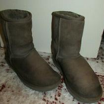 Women's  Ugg 1019030 Gray Leather Boots Size 6 Photo