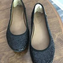 Womens Ugg Alloway Black Glitter Ballet Loafer Flats Size 8.5 M Sparkle Uggs Photo