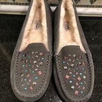 Women's Ugg Ansley Stud Ii Gray Grey Slippers- Size 10- 1119100 Photo