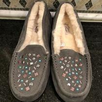Women's Ugg Ansley Stud Ii Gray Grey Slippers- Size 8- 1119100 Photo