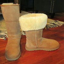 Women's Ugg Australia Classic Tall Chestnut Tan Suede Boots Size 9 Barely Worn  Photo