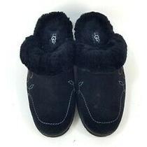 Women's Ugg Australia Solvang Black Sheepskin Mules Clogs Slippers Size 8 Photo
