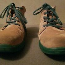 Women's Ugg Bethany Suede Sheepskin Lace Up Ankle Boots Size Us5 Eu35 tan&green  Photo