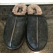 Women's Ugg Black Pearle Milky Way Slippers- Size 7- 119113 Photo