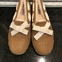 Womens Ugg Chestnut Dakota Sunshine Perf Slippers- Size 10- 1019199 Photo