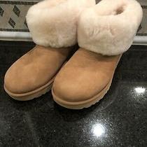 Womens Ugg Classic Mini Fluff Chestnut Boots- Size 10- 1106757 Photo