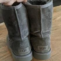 Women's Ugg Classic Short Gray Boots  Size 4-5 Photo