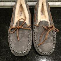 Women's Ugg Dark Gray Dakota Slippers- Size 9- 5612 Photo