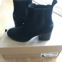 Womens Ugg Faye Suede Ankle Boot Black Us 7.5 Photo