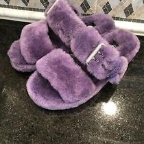 Womens Ugg Fuzz Yeah Violet Bloom Slippers- Size 5-1104662 Photo