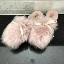 Women's Ugg Pink Crystal Shaine Fluff Slippers- Size 6- 1105316 Photo