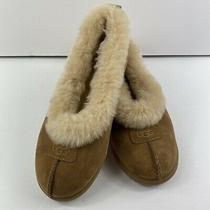 Women's Ugg Rylan Casual Slippers Light Brown Suede Sheepskin Lined Rubber Sole  Photo