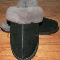 Women's Ugg Scuffette Ii Slipper Size 8 Black/gray Very Good Pre-Owned Condition Photo