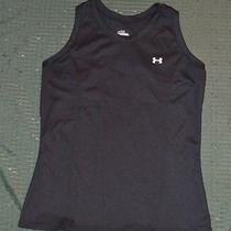 Women's Under Armour Black Racerback Tank Top Shirt Ua Size Medium  Photo