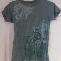 Women's Urban Renewal by Urban Outfitters Green T-Shirt W/ Pirate Ships Sz Small Photo