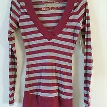 Women's v-Neck Striped Sweater Photo