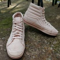 Women's Vans Sk8-Hi Blush Pink Canvas Sneakers Size 7.5 Photo