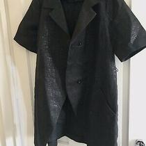 Womens Vera Wang Black Jacket Short Sleeve Simply Vera Designers M Uk 12-14 Photo