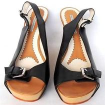 Women's Vera Wang Lavender Leather Pumps/heel/wedge Shoes Size 10 M Black Photo