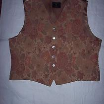 Women's Vest Dressy Chelsea Campbell Petites Xl  Embroidered Pattern Photo