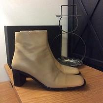 Women's via Spiga Beige Leather Ankle Boots  Size 8m  Made in Italy Photo