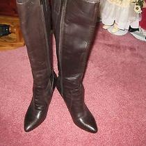 Women's via Spiga Rouge Brown Leather Boot Size 8 1/2 M Photo