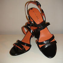 Women's via Spiga Ruslana Open Toe Slingback Sandals  Sz 10 Black New 198 Photo
