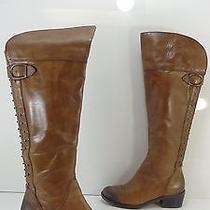 Women's Vince Camuto 'Bilco' Over the Knee Studded Leather Boot Brown Size 6.5 M Photo
