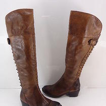 Women's Vince Camuto 'Bilco' Over the Knee Studded Leather Boot Brown Size 5 M Photo