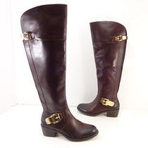 Women's Vince Camuto 'Bocca' Otk Side Zip Leather Boots Brown Size 5.5 M Photo