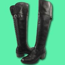 Women's Vince Camuto 'Bollo' Black Leather Studded Over the Knee Boots Sz 8 B Photo