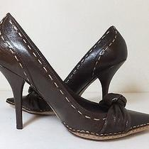 Women's Vince Camuto Brown Leather High Heel -Pointy Toe Pumps Size 10 B Photo