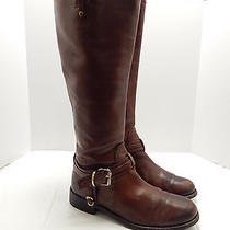 Women's Vince Camuto Brown Leather Riding Boots Size 9 B  Photo