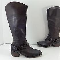 Women's Vince Camuto 'Brunah' Tall Side Zip Leather Boots Brown Size 7.5 M Photo