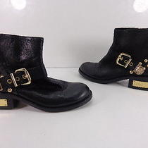 Women's Vince Camuto Windetta Leather Ankle Boots Black - Size 6 1/2 Medium Photo