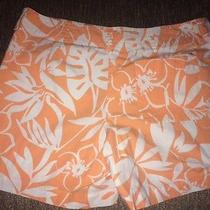 Women's Vineyard Vines Orange & White Shorts Size 12 Photo