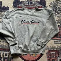 Women's Vintage 90's Guess Jeans Gray Crewneck Sweatshirt Pullover Sz Xl Usa Photo