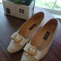 Women's Vintage Bally Italian Shoes Size 38 C - Beige Color - Low Heel Photo