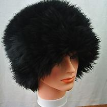 Women's Vintage Dyed Tuscan Black Lamb Sheepskin Beehive Cossack Hat Size 6 Photo