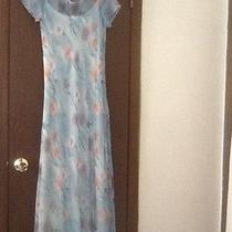 Women's Vintage Express Maxi Dress Short Sleeves Floral Boho Size 7/8 Photo