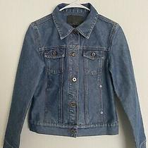 Womens Vintage Guess Denim Medium Wash Jean Jacket Size Small Photo